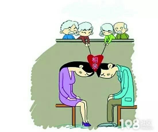 卡通手绘老人小孩青年