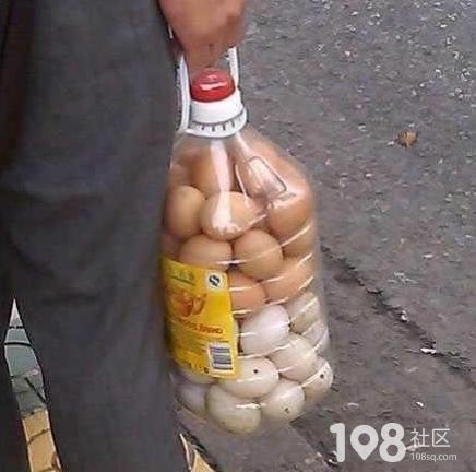 小方法油桶巧装鸡蛋,不易打碎还能提着走