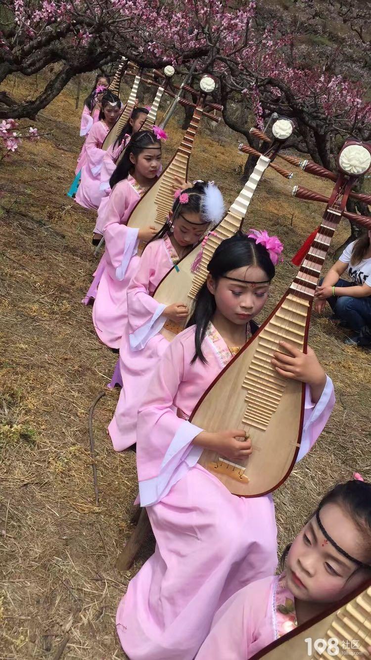 三生三世十里桃花,桃花林里弹琵琶的小仙女