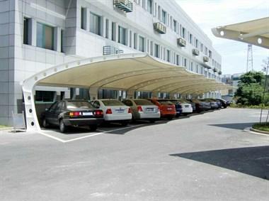膜结构停车棚推拉棚
