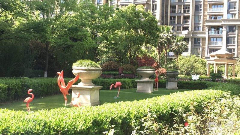 杭州开元广场小区景观小品布置