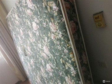 空调,热水器,1.8米皮床,木质沙发单人两只,