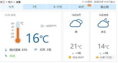 诸暨昼夜温差高达10℃!冷空气来袭准备好秋衣秋裤