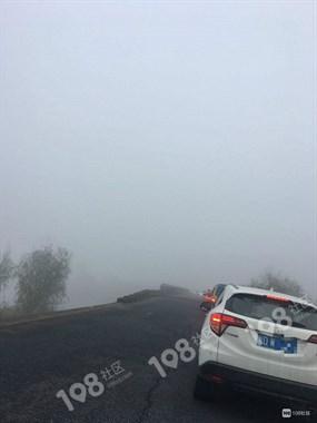 大雾天行车注意安全!吕家埠一车子开到塘路下,还有…