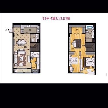 城北精装修公寓,可落户,5.3米层高 买一层享两层