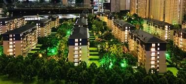 嘉兴市中心大平层洋房。
