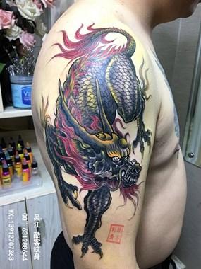 般若纹身图案#玫瑰花纹身图案#吴江酷客纹身