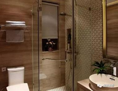卫生间不要装淋浴房了,如今都流行这样装,效果实用十倍